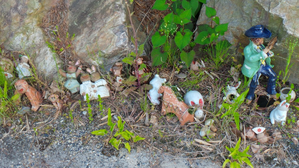 Ceramic fairy tale garden in pottery city Seto