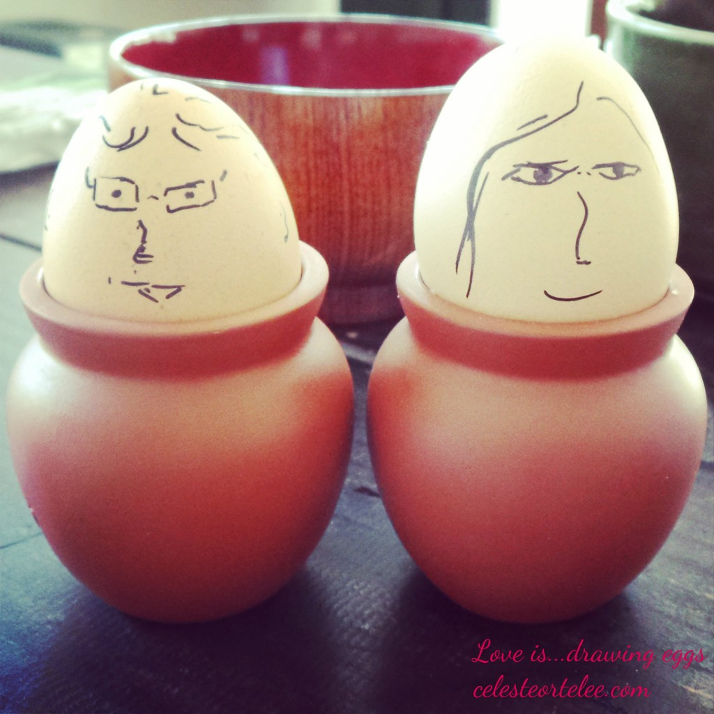 Love is...drawing eggs