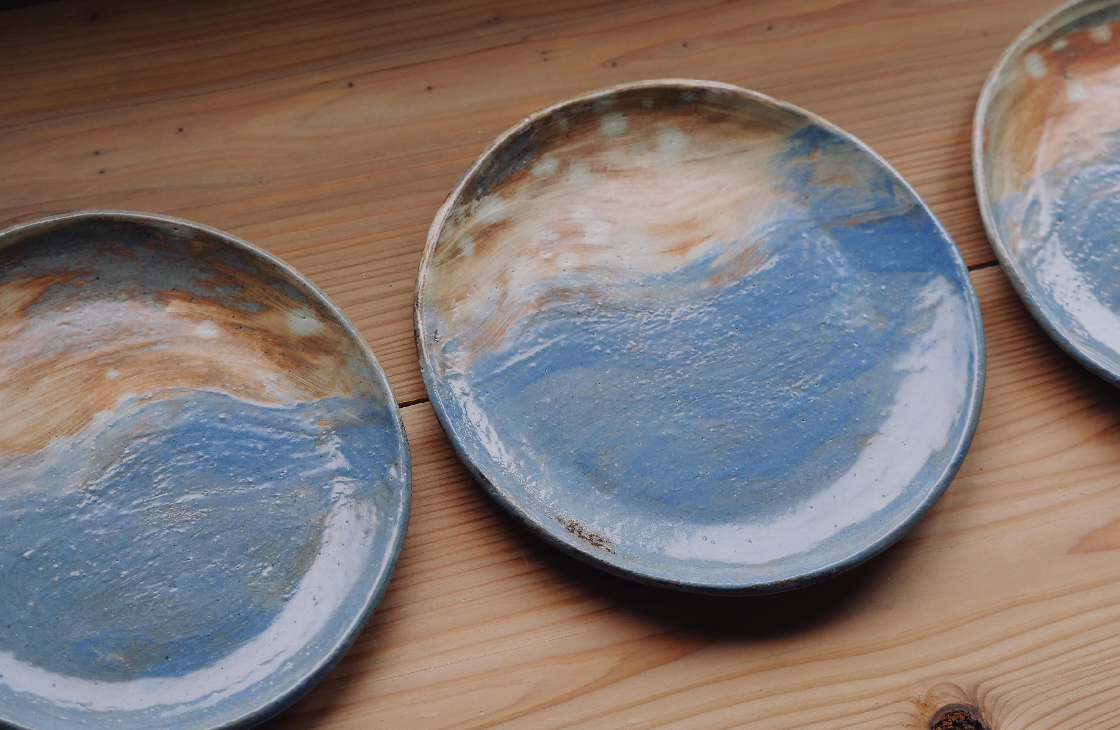 sunset plates tableware keramiek celeste ortelee