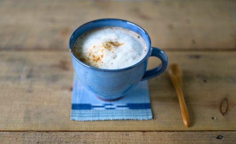 cafe au lait mug japanese ash glaze