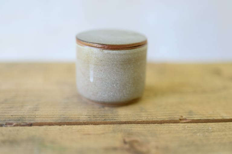 small lidded matcha container