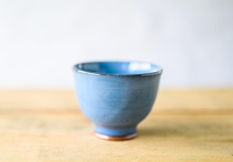 tea bowl blue chawan