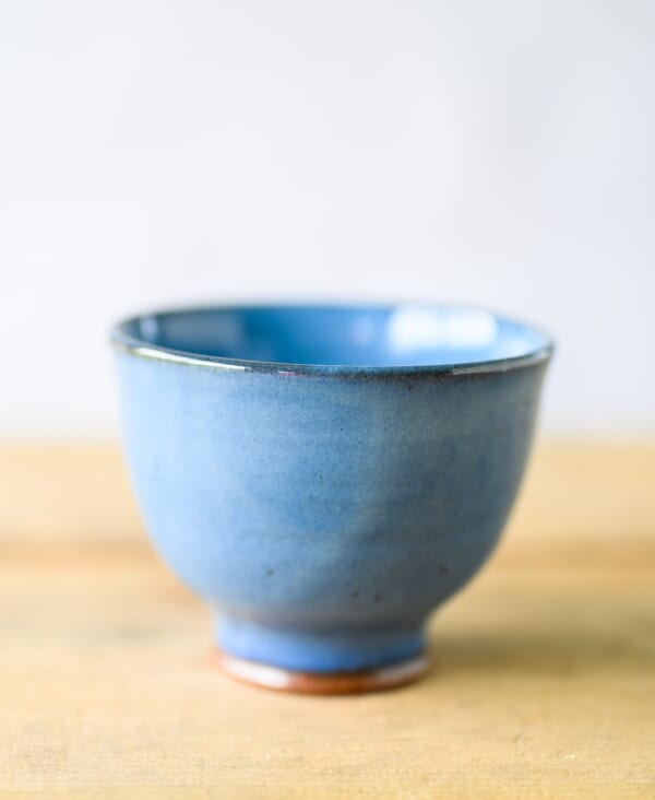 tea bowl blue chawan